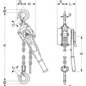 Таль ручная цепная рычажная шестеренная СВПК ТРШСР - миниатюра фото 3