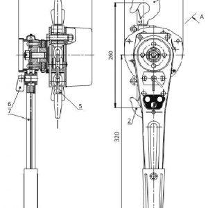 Таль ручная цепная рычажная шестеренная СВПК ТРШСРМ - миниатюра фото 3