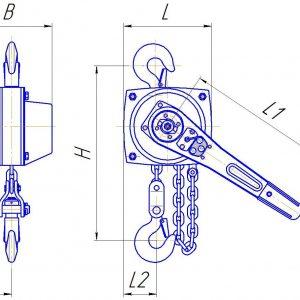 Таль ручная цепная рычажная шестеренная СВПК ТРШСРп - миниатюра фото 3