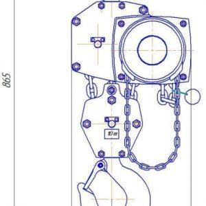 Таль ручная цепная стационарная шестеренная пожаробезопасная СВПК ТРШСп-Ex-10,0 - миниатюра фото 3