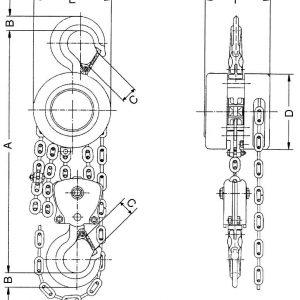 Таль ручная цепная стационарная шестеренная СВПК ТРШСК - миниатюра фото 3
