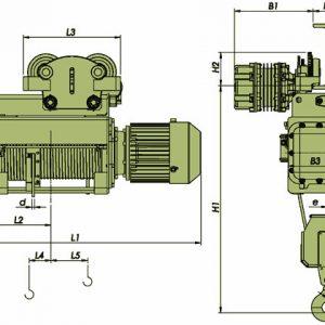 Таль электрическая канатная ЭЛМОТ VHVAT ВЗИ - миниатюра фото 3