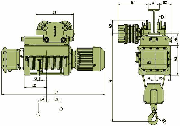 Таль электрическая канатная ЭЛМОТ VHVAT ВЗИ - 2