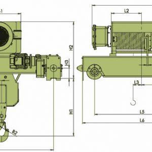 Таль электрическая канатная ЭЛМОТ VKVAT ВЗИ - миниатюра фото 5