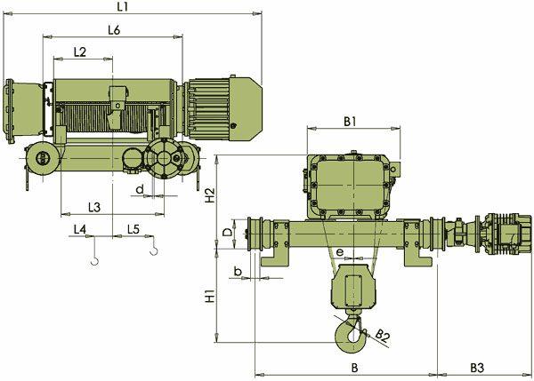 Таль электрическая канатная ЭЛМОТ VKVAT ВЗИ - 3