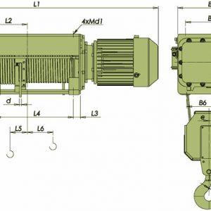 Таль электрическая канатная ЭЛМОТ VVAT ВЗИ - миниатюра фото 4
