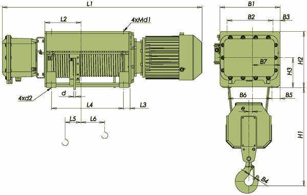Таль электрическая канатная ЭЛМОТ VVAT ВЗИ - 3