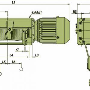 Таль электрическая канатная ЭЛМОТ VVAT ВЗИ - миниатюра фото 3
