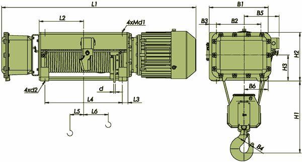 Таль электрическая канатная ЭЛМОТ VVAT ВЗИ - 2