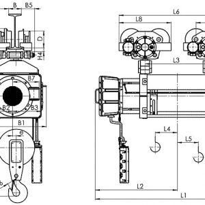 Таль электрическая канатная передвижная Балканское Эхо ВМТ ED двухрельсовая ВЗИ - миниатюра фото 3