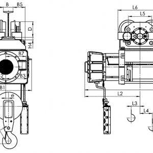 Таль электрическая канатная передвижная Балканское Эхо ВМТ EN ВЗИ - миниатюра фото 3