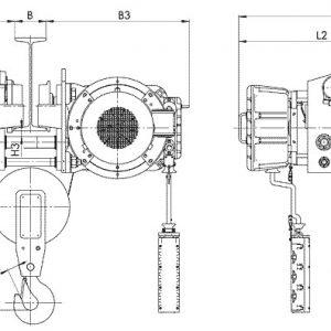 Таль электрическая канатная передвижная Балканское Эхо ВТ45/ВТ78 УСВ ВЗИ - миниатюра фото 3