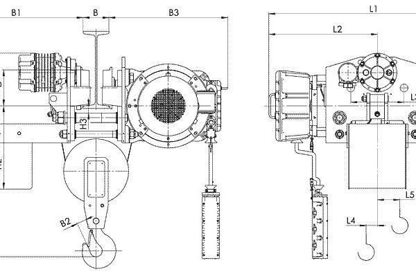 Таль электрическая канатная передвижная Балканское Эхо ВТ45/ВТ78 УСВ ВЗИ - 2