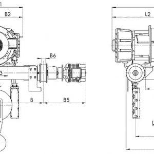 Таль электрическая канатная передвижная Балканское Эхо ВТ81/ВТ82 двухрельсовая ВЗИ - миниатюра фото 3