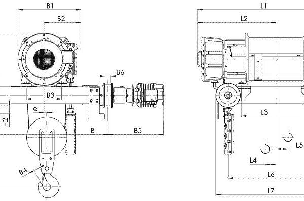 Таль электрическая канатная передвижная Балканское Эхо ВТ81/ВТ82 двухрельсовая ВЗИ - 2