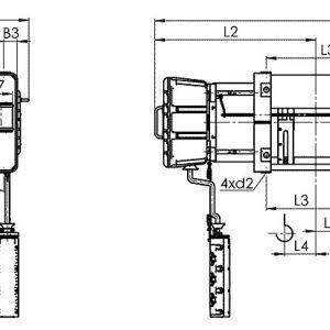 Таль электрическая канатная стационарная Балканское Эхо ВМТ ВЗИ - миниатюра фото 3