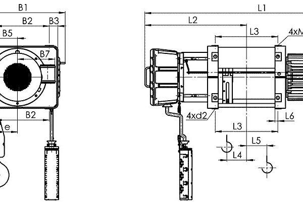 Таль электрическая канатная стационарная Балканское Эхо ВМТ ВЗИ - 2