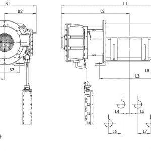 Таль электрическая канатная стационарная Балканское Эхо ВТ01/ВТ02/ВТ17/ВТ35 ВЗИ - миниатюра фото 3