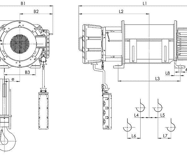 Таль электрическая канатная стационарная Балканское Эхо ВТ01/ВТ02/ВТ17/ВТ35 ВЗИ - 2