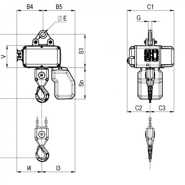 Таль электрическая цепная серии CLF Podem (Подем) - 4
