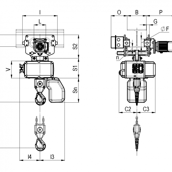 Таль электрическая цепная серии CLF Podem (Подем) - 3